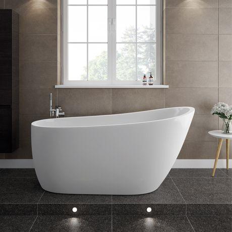 Turin Small Modern Slipper Free Standing Bath - 1520mm