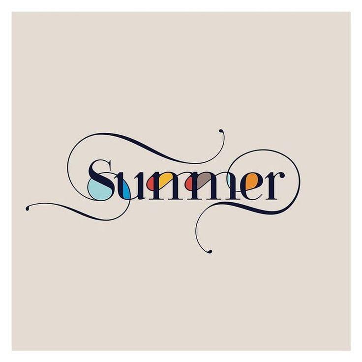 """""""Summer"""" hand lettering by @moshiknadavtypography"""