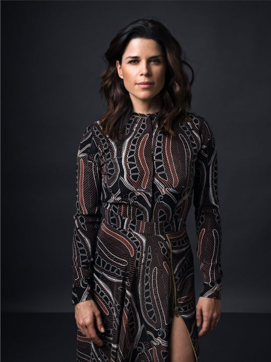 Actress Neve Campbell for Sophie Theallet Spring 2017