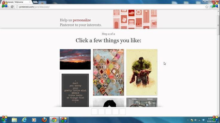 How to create a Pinterest account.