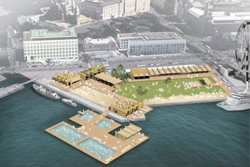Katajanokka in the centre of Finnish capital Helsinki will be hosting a new outdoor sea pool complex Allas – Helsinki Pool. #Helsinki