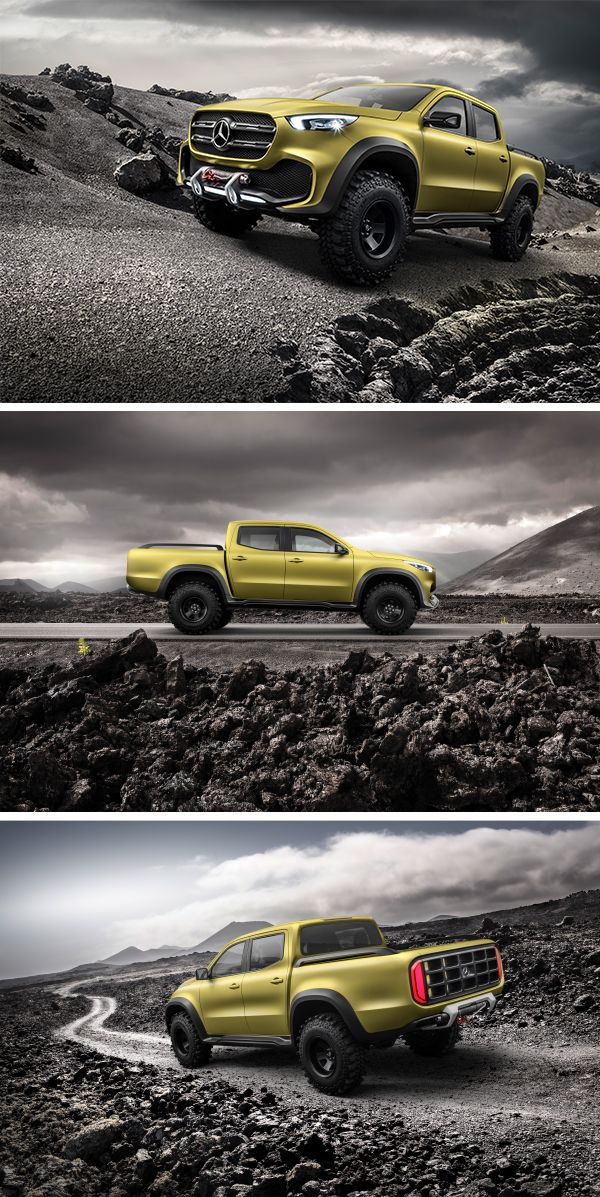 The world's first true premium pickup for the modern urban lifestyle: the new Mercedes-Benz Concept X-Class.