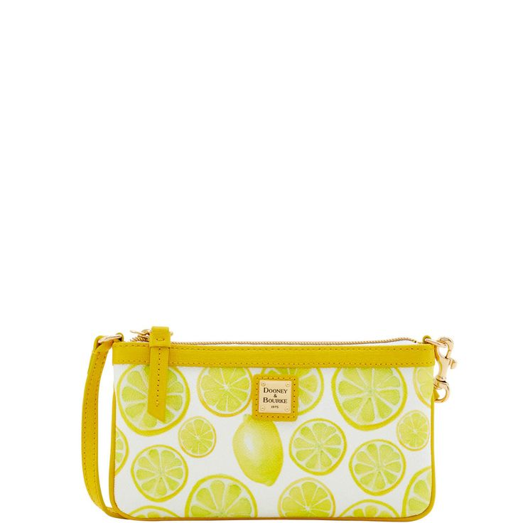 Dooney & Bourke | Limone Large Slim Wristlet | Spring Fashion    Yellow | Trends | Trending | Yellow Handbag | Yellow Accessory | Yellow Accessories | Yellow Purse | Fashion | Style | Bold | Dandelion | Daffodil | Mustard | Lemon | Limone | Banana | Pineapple | Gold | Butterscotch | Honey | Bumblebee | Blonde | Butter | Tuscan Sun