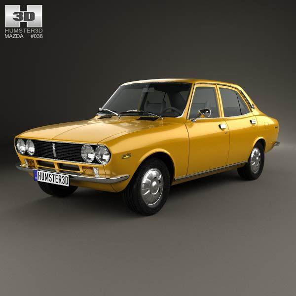 Mazda Capella (616) sedan 1974 3d model from humster3d.com. Price: $75