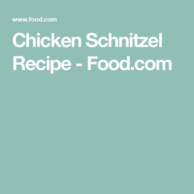 Chicken Schnitzel Recipe - Food.com