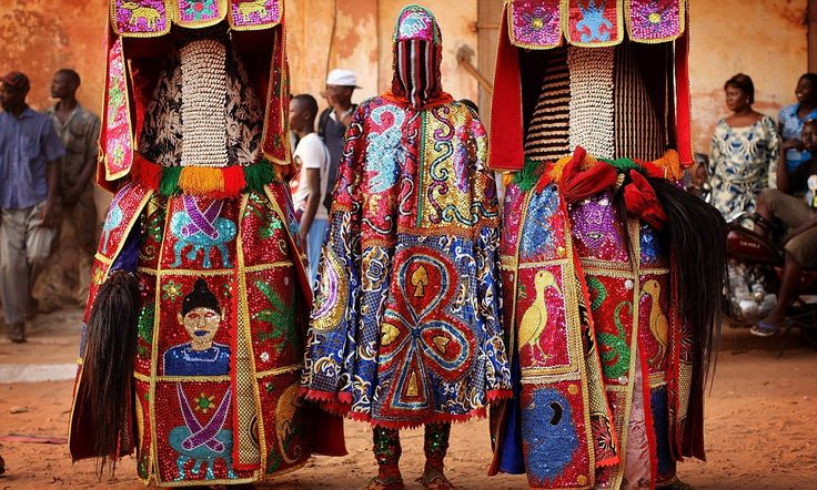 The colourful and creepy 'reincarnations' of voodoo spirits in west African religious festival
