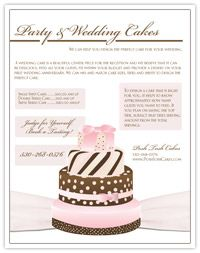 Professional Cake Decorator Flyer