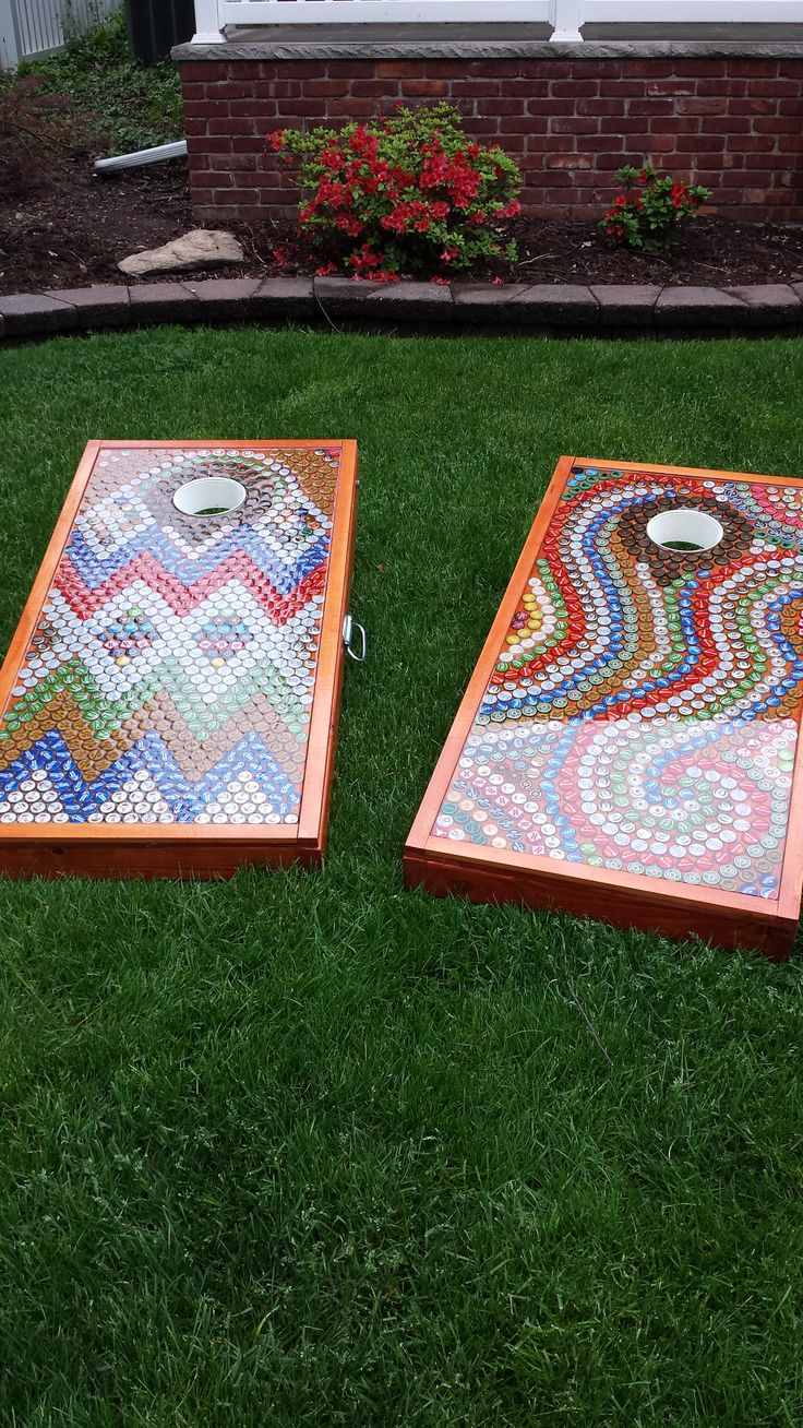 Cornhole Bottlecaps Epoxy Homemade Beer Summer Tailgating Games Outdoors Fun Concerts