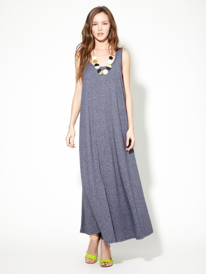 Cotton Striped  A-Line Dress by American Apparel on Gilt