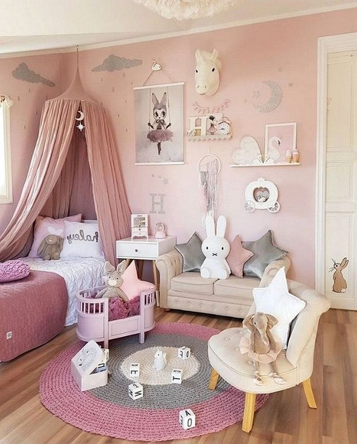 Kid S Bedroom Ideas For Girls 75 Cute Pict In 2020 Bedroom For Girls Kids Girls Bedroom Girl Bedroom Decor