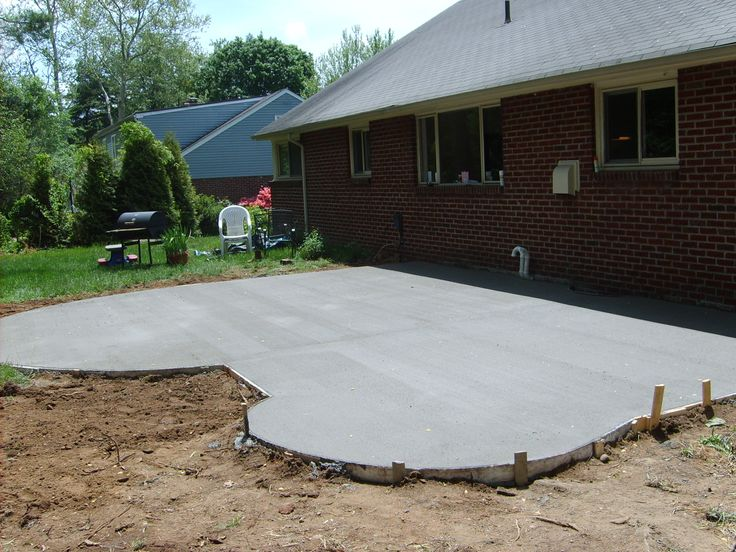 26 best walkways images on Pinterest   Patio ideas ... on Poured Concrete Patio Ideas id=83749