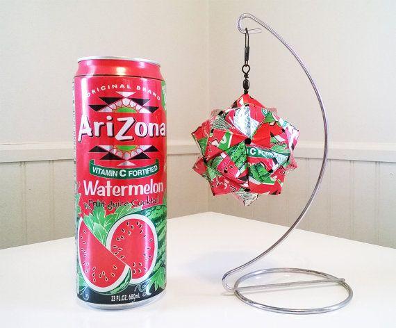 Boisson peut Origami - AriZona pastèque - Upcycled, recyclé, ...