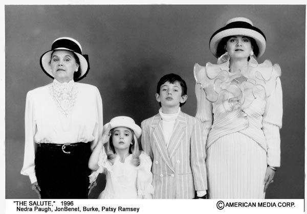 Nedra Paugh with her daughter Patsy, JonBenet, and Burke.