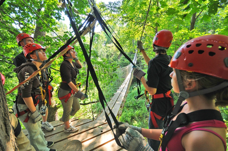 Suspension bridges at Long Point Eco-Adventures.