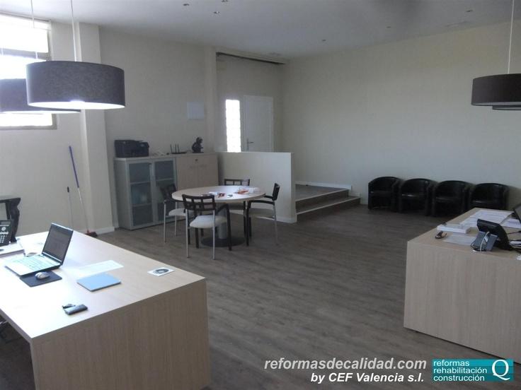 Vista general de la reforma de oficinas realizada por nuestra empresa para empresa de restauración y catering en El Puig (Valencia)  www.cefvalencia.es/reforma-oficinas-comerciales.html