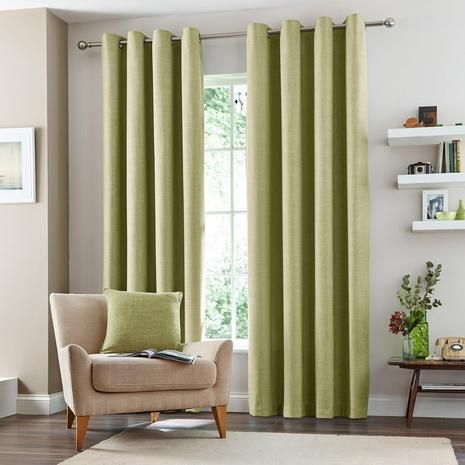 Vermont Lined Eyelet curtains from Dunelm