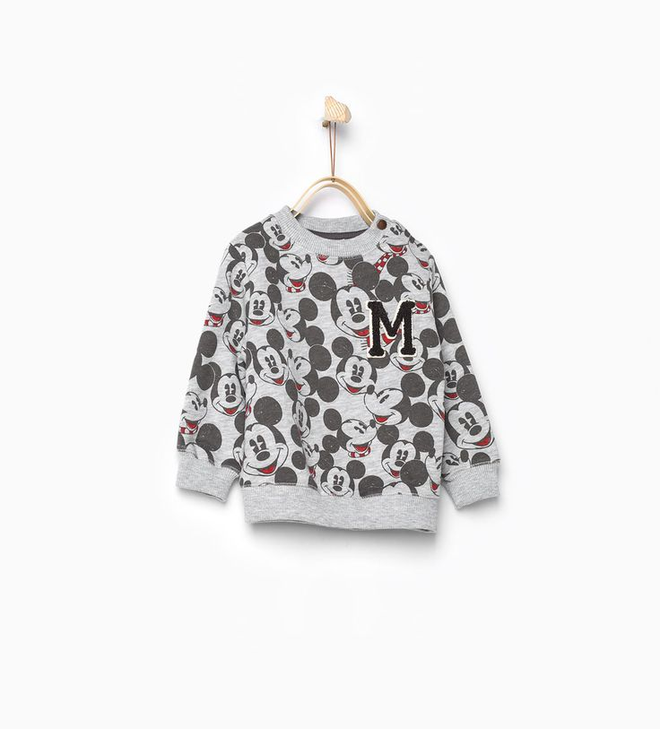 Mickey print sweatshirt-Sweatshirts-Baby boy-Baby   3 months - 3 years-KIDS   ZARA Canada