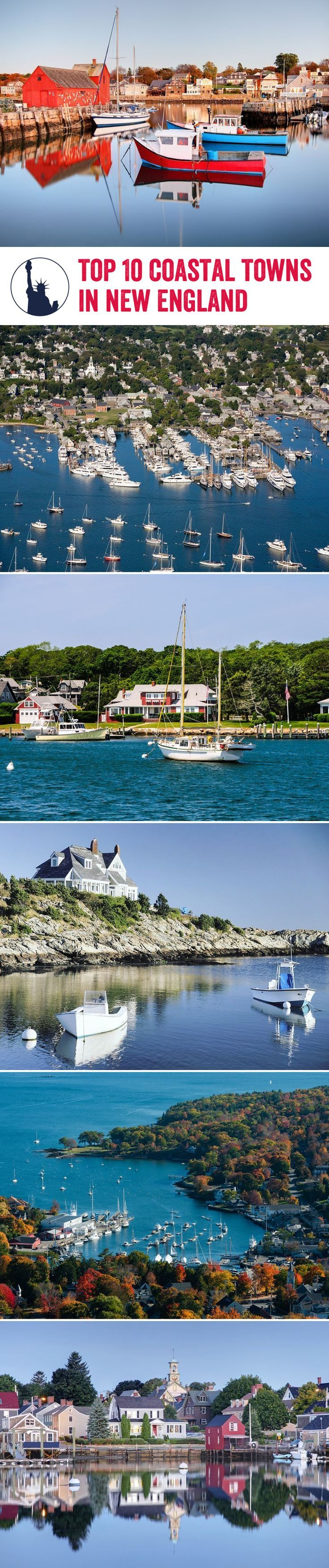 USA Travel Inspiration - New England's coastal towns truly evoke a wonderful charm. Here's our top 10 to visit