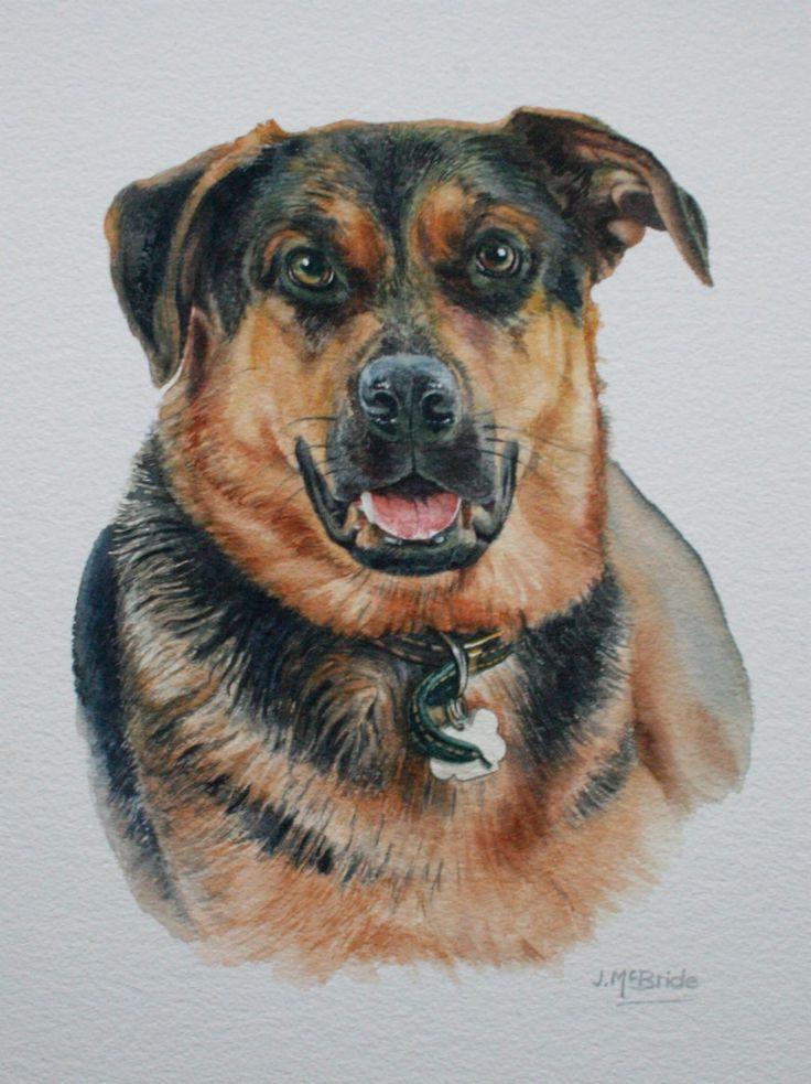 'Tilly' - watercolour