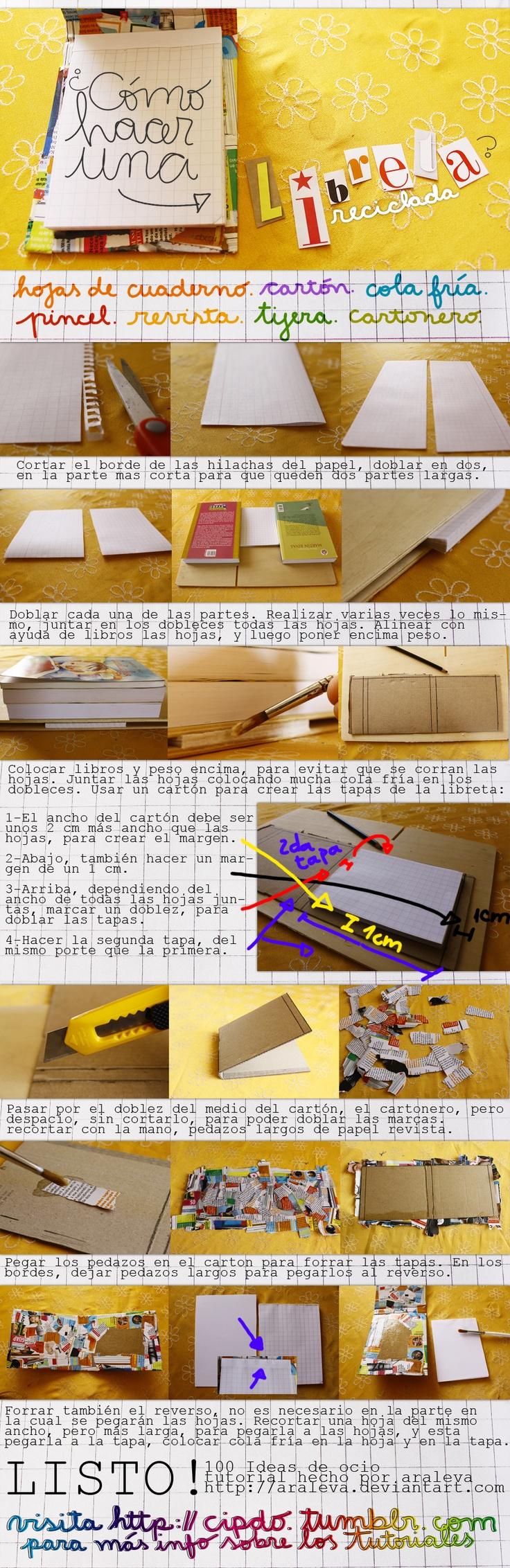 Como hacer una libreta by ~Araleva on deviantART