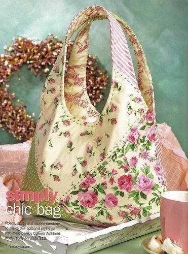 A nothing special bag design made very special by choice of fabric and stitching. Nice!