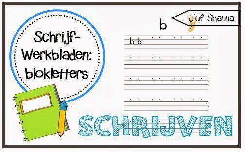 Schrijfwerkbladen in blokletters!