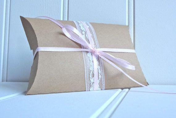 25 Kraft Pillow Favor Boxes / Pillow Favor Boxes by ThePaperBazaar, $40.87