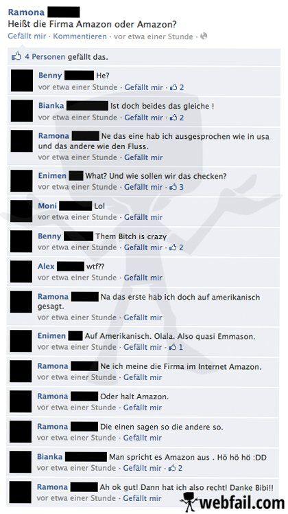 Amazon oder Amazon, das ist hier die Frage - Facebook WTF/Fail des Tages 18.02.2014 | Webfail - Fail Bilder und Fail Videos
