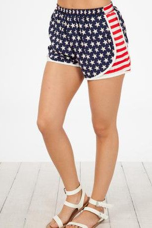 Always American Shorts- Navy Blue