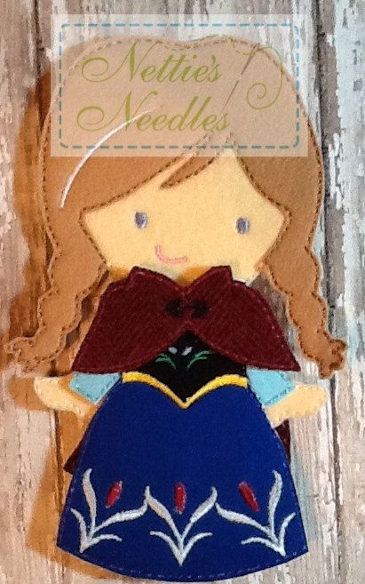 Frozen Anna Outfit For Felt Doll by NettiesNeedlesToo on Etsy, $9.00