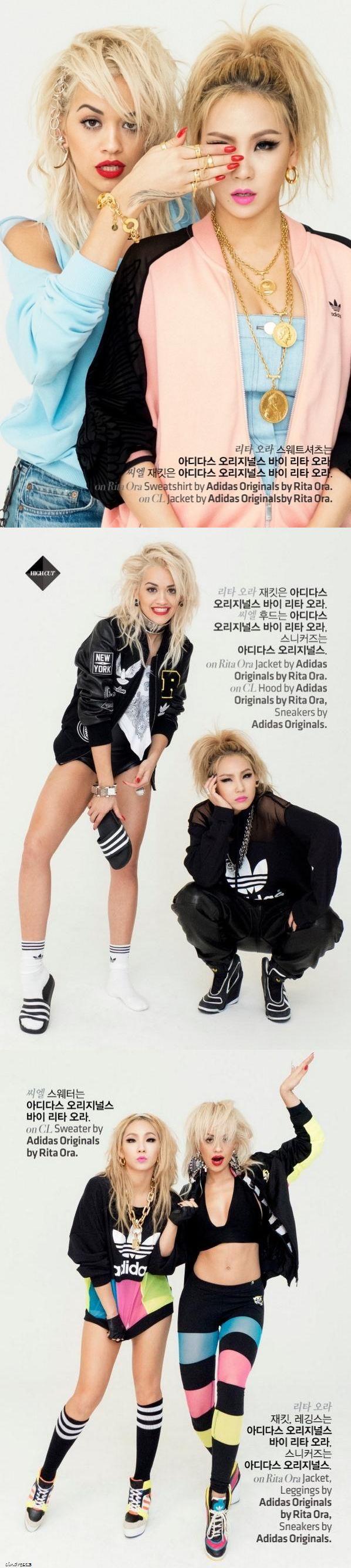 [HQ] 2NE1 CL & Rita Ora for High Cut ❤️