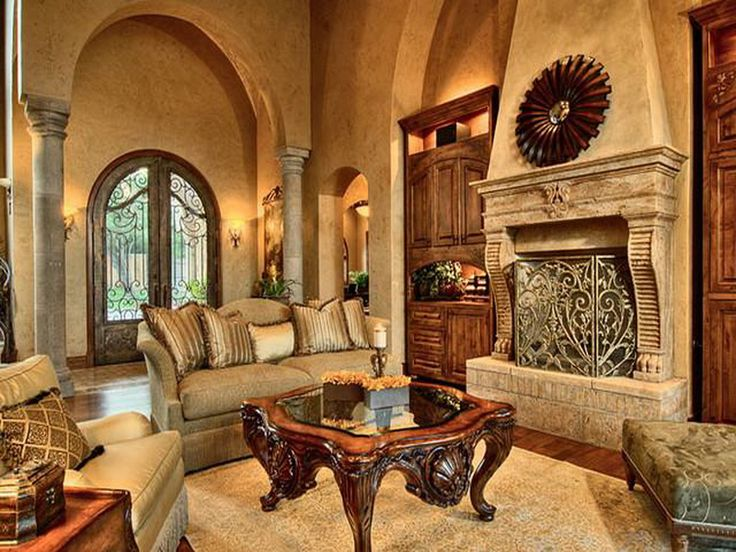 15 Stunning Tuscan Living Room Designs  Decoration for House 794 best Mediterranean Decorating Ideas images on