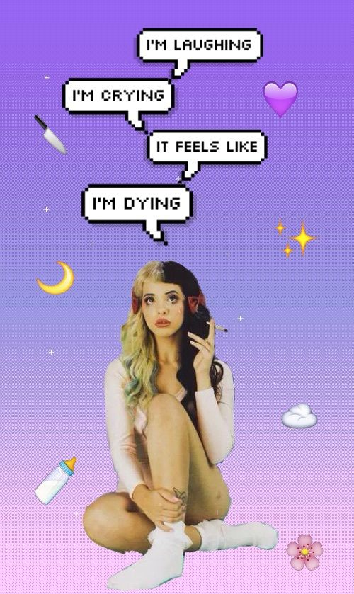 backgrounds, cry baby, grunge, heart it, mel, melanie, melanie martinez, pastel, pastel pink, png, singers, songs quotes, tumblr, we heart it, pastel purple, emojis, female singers, First Set on Favim.com, tumblr backgrounds, pity party