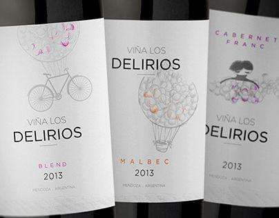 """Check out new work on my @Behance portfolio: """"Viña Los Delirios"""" http://on.be.net/1KpVaEf"""