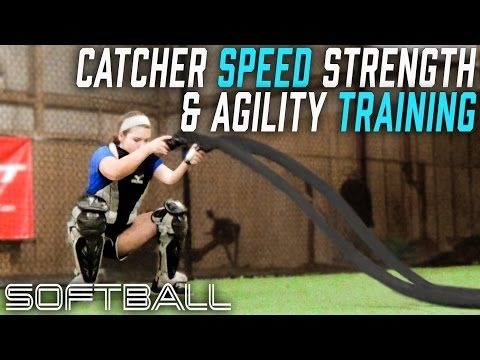 Softbll Strong Catcher Training speed strength agility - YouTube