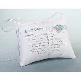 dettagli perfetti Un cuscino portafedi adatto al tuo evento vintage o rustico.