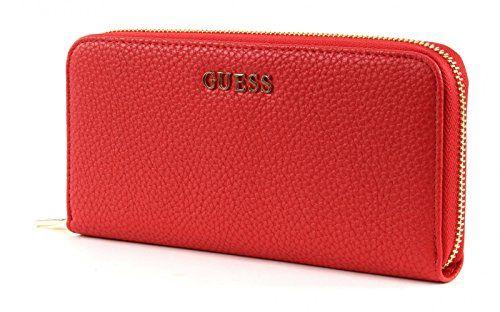 GUESS, Damen Geldbörsen, Börsen, Portemonnaies, Brieftaschen, Rot, 20,5 x 10 x 2,5 cm (B x H x T)