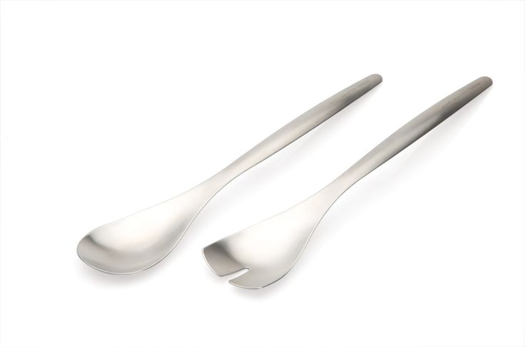 SERVING SPOONS These elegant stainless steel servers are great to use at the table and in the kitchen. The long handled design is particularly useful for serving from deeper dishes when sitting or cooking. #ServingSpoons #Spoons #Cookware #Servingware #Kitchenware #Cooking #
