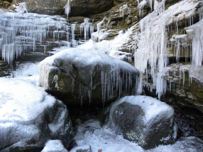Anglin Falls in Winter  #anglinfalls @Kentucky Tourism   Near Bear, KY