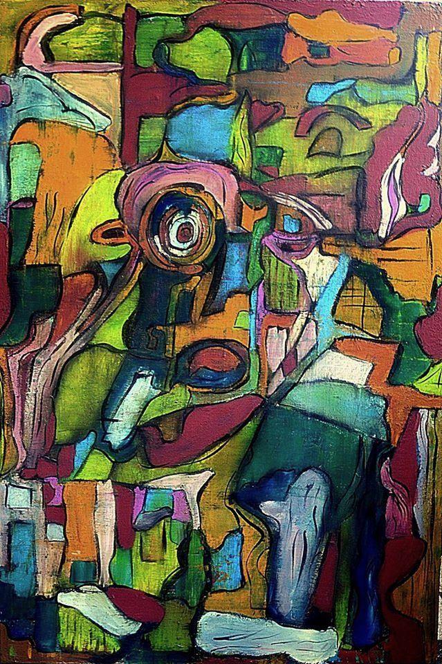 Bohemian soul 1./2014. 70x100 cm Acrylic on canvas-Lívia Földes