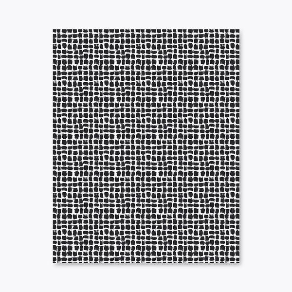 Mukula-vahakangas Musta / Valkoinen / 145