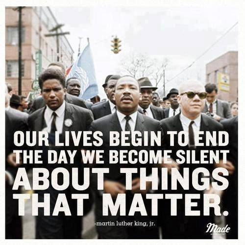 things that matter - Martin Luther King Jr.