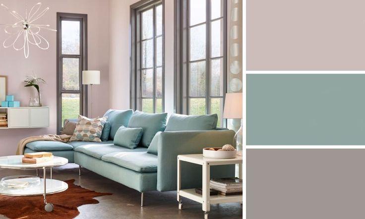 salon couleurs pastel ikea