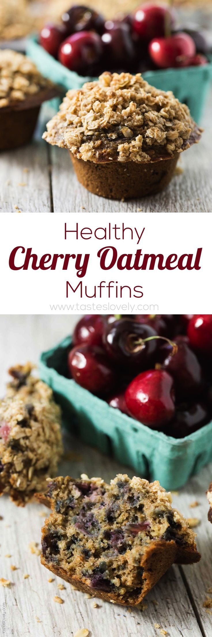 Cherry Recipe | Healthy Cherry Oatmeal Muffins