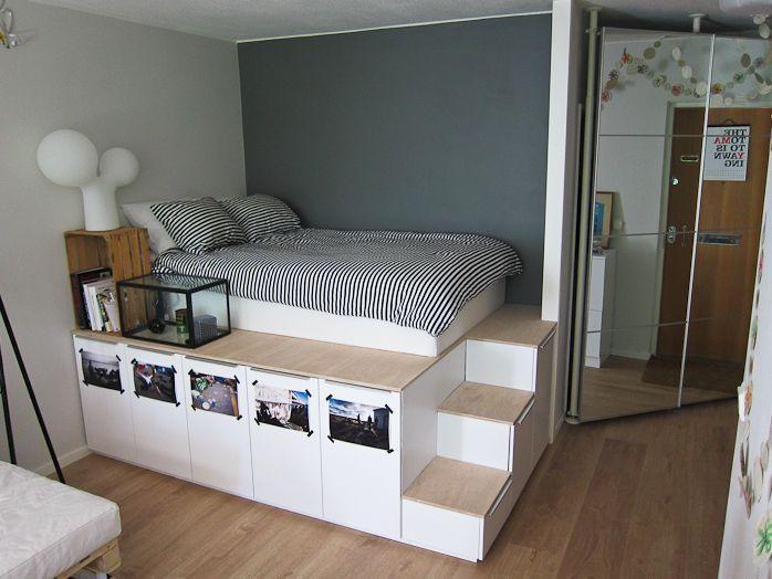 Platform bed storage https://ohyesblog.wordpress.com/tag/captains-bed/