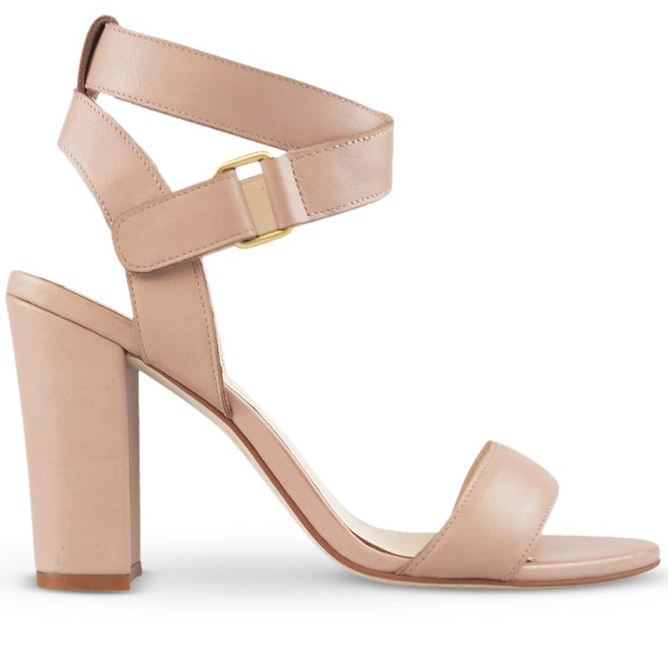 The best way to be caught in nude! This light and airy sandal features a 8.5cm block heel, dimensional padded front strap, velcro strap enclosure and polished silver hardware. This classic heel is a must-have item for Summer, dress Ralex up or down