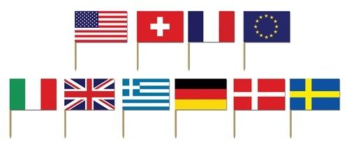 International Flag Picks (50/pkg) $1.80
