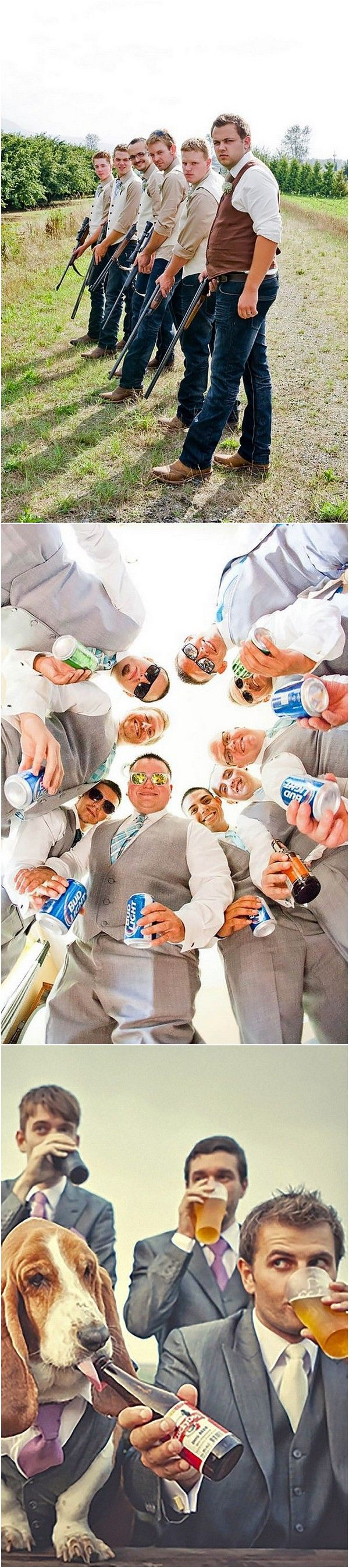 funny groomsmen wedding photo ideas