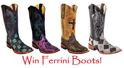 The Cowboy Shop - Win a pair of Ferrini Western Boots - http://sweepstakesden.com/the-cowboy-shop-win-a-pair-of-ferrini-western-boots/