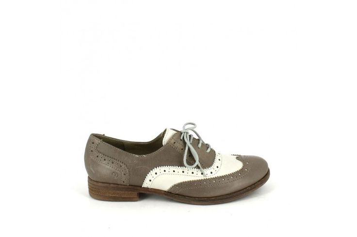 Vale 15515 Queen Grey - Queen Bianco - Urban mix two-coloured lace up shoe, genuine leather, rubber sole, heel 1 cm. Essentially female.